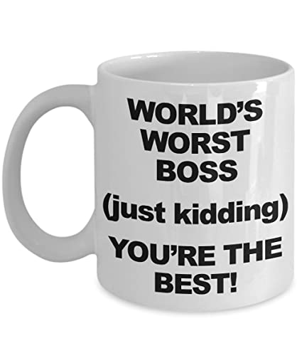 best boss gift coffee mug funny worlds worst christmas gag present unique noveltx gift