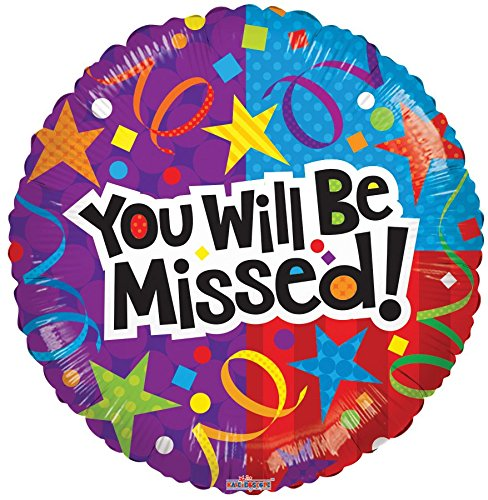 You Will Be Missed Round Shaped 17 Inch Mylar Balloon Bulk (5 Pack)
