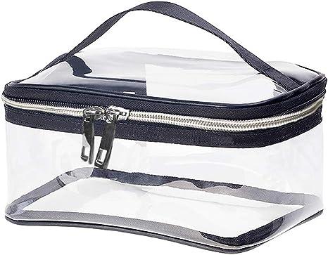Transparente Kosmetiktasche PVC,Tragbare Wasserdichte Kulturbeutel durchsichtig,Flugzeug Multi-Gr/ö/ßen Make-Up Tasche F/ür M/änner Und Frauen,large