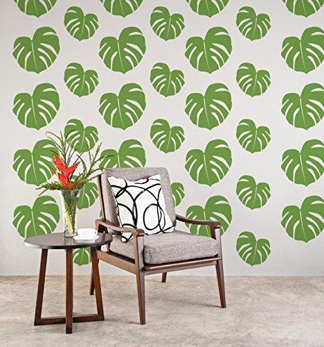 Tropical Wall Decal, Beach Wall Decor, Tropical Leaf, Hawaiian Wall Decor,  Tropical