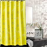 xiaojingLY Shower curtain,Thickening Heating bathroom curtain,Shading Partition curtain Bath waterproof curtain Opaque shower curtain,Plummet,Huang beike.-H