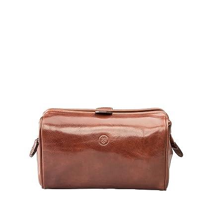 63a9c9fabef3 Maxwell-Scott® Premium Quality Tan Handmade Italian Full Grain Leather Mens  Wash Bag (The DunoM): Maxwell Scott: Amazon.co.uk: Clothing