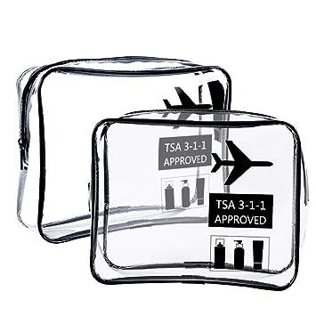 OOOUSE - Neceser Transparente Aprobado por la TSA para ...