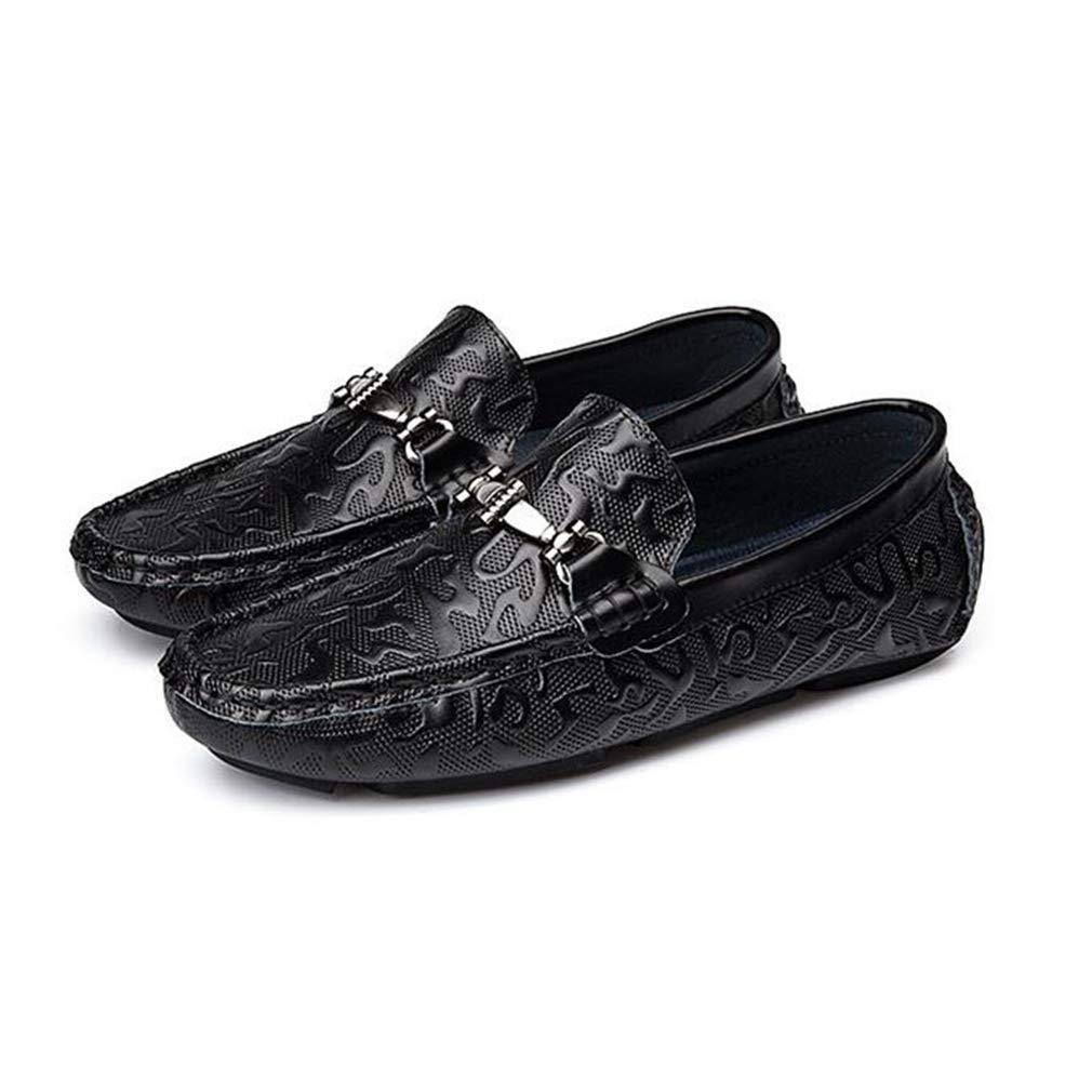 Hy Herrenschuhe Spring Fallleuchte Loafers & Slip-Ons Soft Sole Comfort Driving schuhe Trekking,schwarz,39