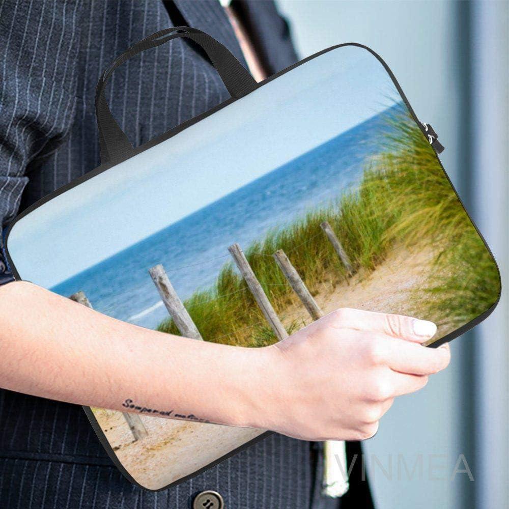 15 Inch Laptop Bag with Handle Water Resistant Ocean Beach Landscape Laptop Briefcase for Working School Men /& Women