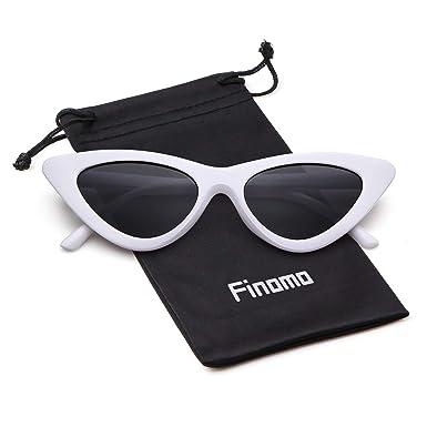 77aa6f041c6b FINOMO Cat Eye Sunglasses Clout Goggles Vintage Mod Kurt Cobain UV400  Glasses for Girls Women: Amazon.co.uk: Clothing