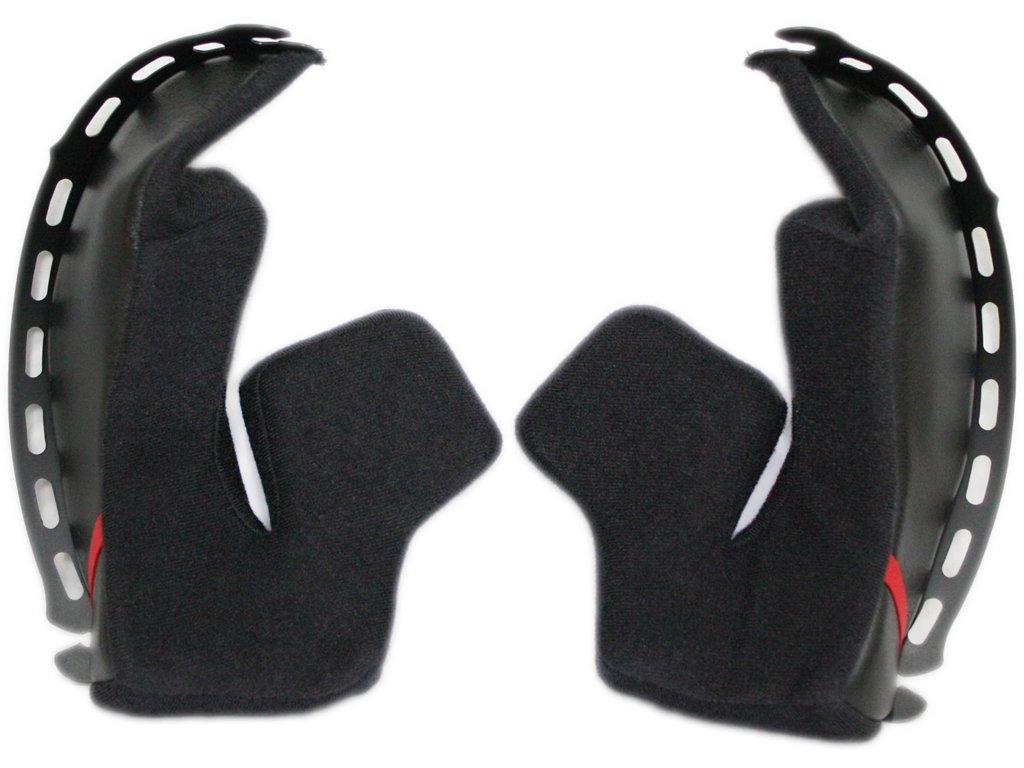 Shoei RF-SR Cheek Pad Set 35mm Street Motorcycle Helmet Accessories - Black/One Size