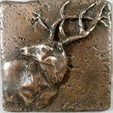 "Cowboy 4/""x4/"" Decorative Metal Wall Tile by Metal Tile Arts Manu Western Copper"