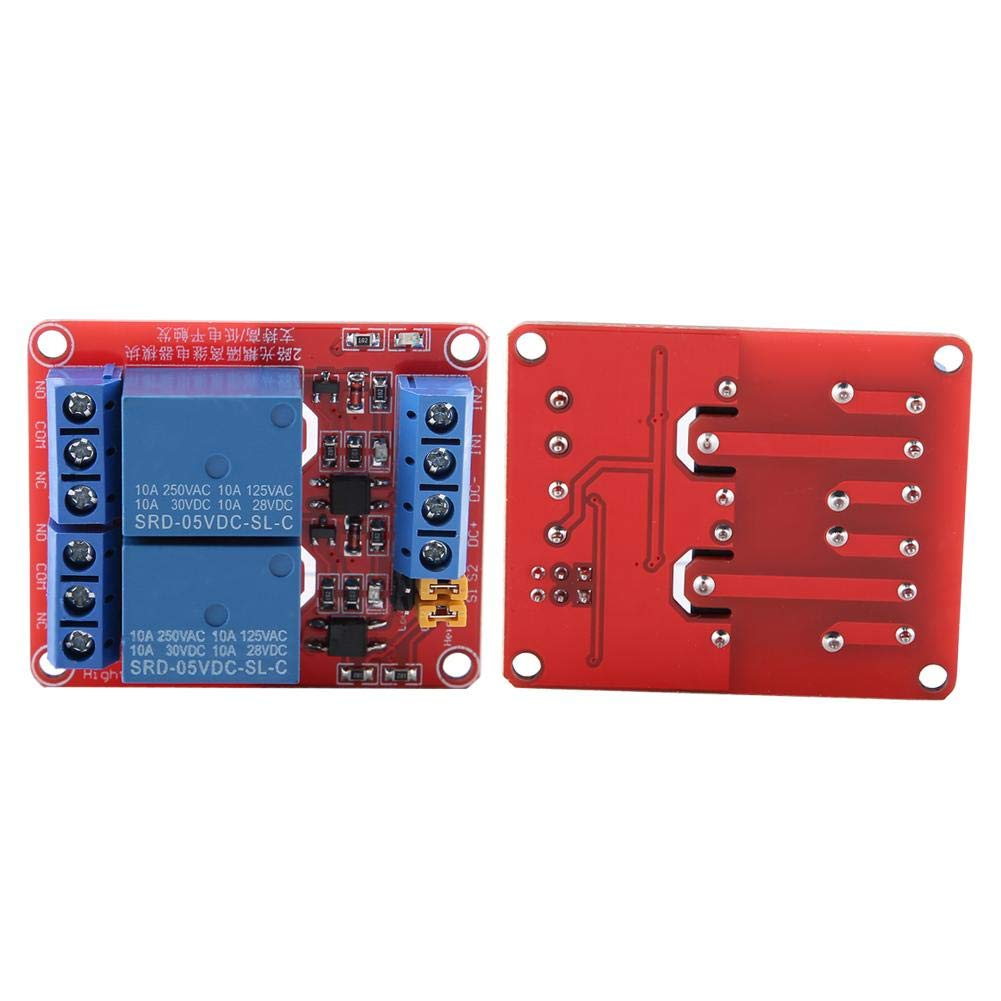 24V 2 Channel Relay Module Relay Board with Optocoupler Low Level Trigger Expansion Board for Arduino 5V//12V//24V