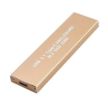 Baoblaze USB 3.1 a NGFF (M.2) SSD 2280 Caja de Unidad de Disco ...