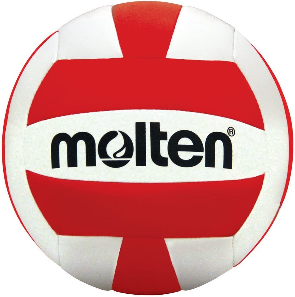 Molten Recreationalバレーボール レッド/ホワイト