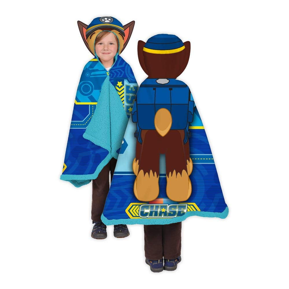 Nickelodeon Paw Patrol Chase Snuggle Comfy Trow Wrap Cape Blanket by Nickelodeon