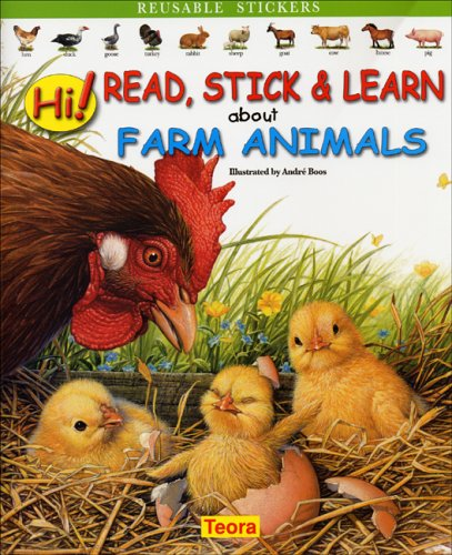Hi! Read, Stick & Learn about Farm Animals