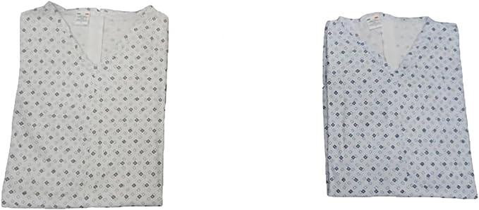 TALLA S. Pijama de una pieza para adulto mayor, de manga larga y con cremallera en la parte trasera, de 100% algodón Interlock
