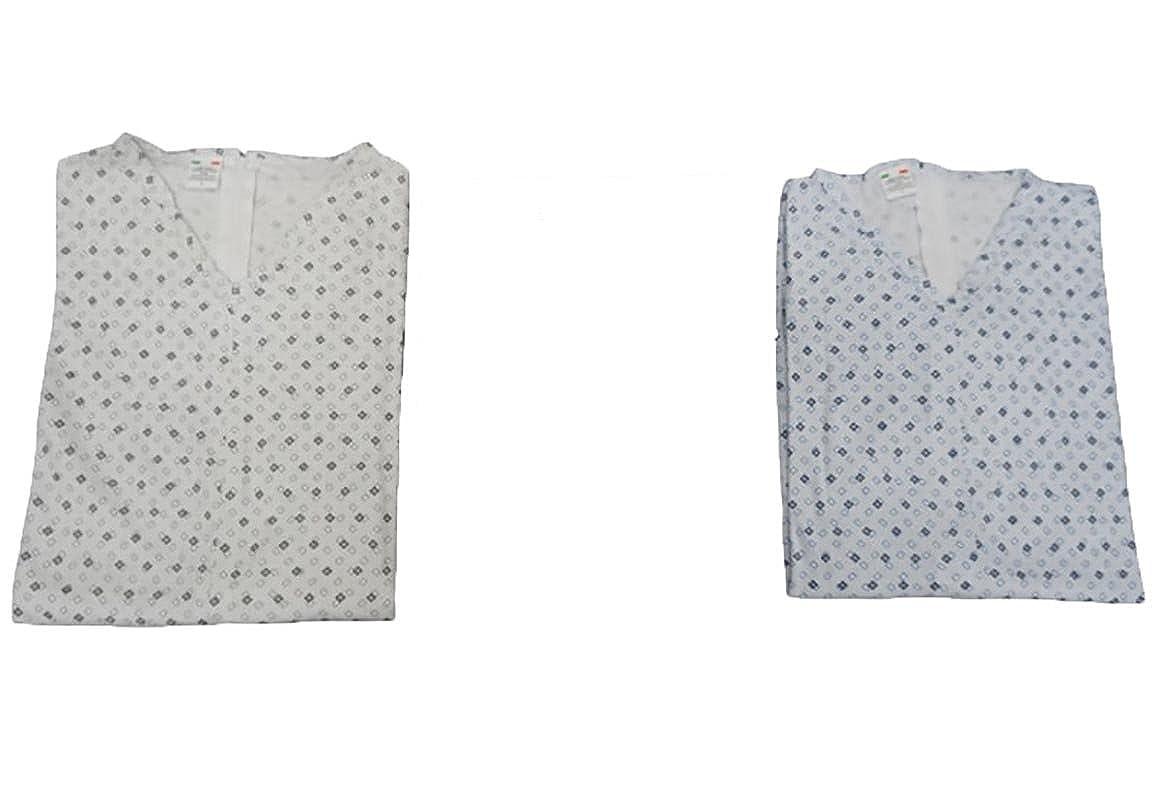Pijama de una pieza para adulto mayor, de manga larga y con cremallera en la parte trasera, de 100% algodón Interlock