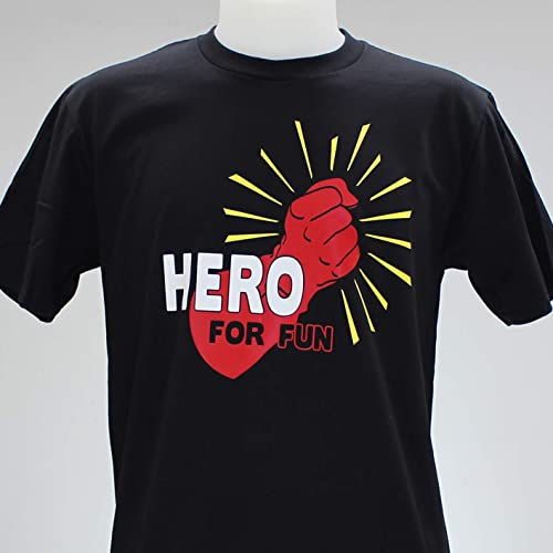 Hero for fun. Camiseta amarilla, negra o blanca chico: Amazon.es: Handmade