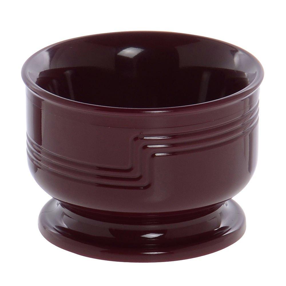 Cambro Shoreline Collection 5 Oz Small Cranberry Plastic Insulated Bowl - 3 1/2'' Dia x 2 3/8'' H
