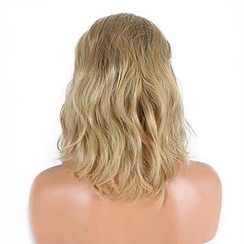 Amazon Com Blonde Short Bob Wigs Ombre Dark Roots Two Tone Heat