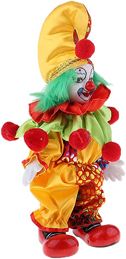 18cm Porcelain Doll Clown For Kids Birthday Gifts Toy Home Decoration #1