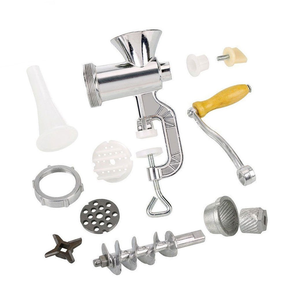 Funnytoday365 Manual Meat Grinder Sausage Noodle Dishes Handheld Making Gadgets Mincer Pasta Maker Crank Home Kitchen Cooking Tools