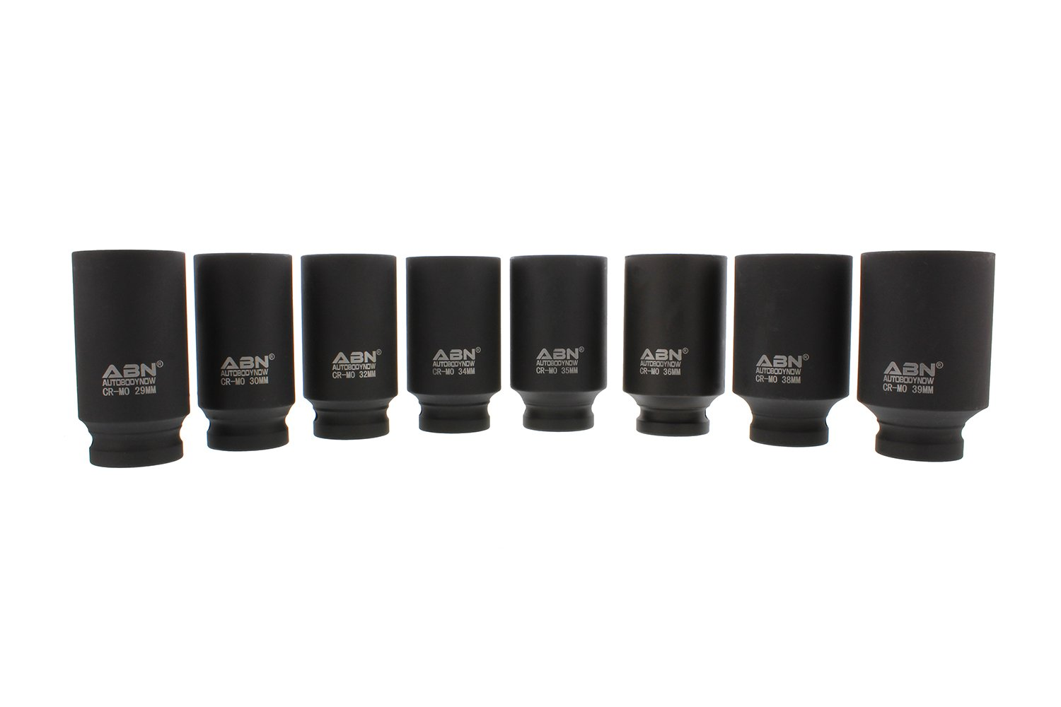 ABN 1//2 Inch Drive 12 Point Spindle Thin Wall Axle Nut Socket 8-Piece Metric Set Repair 12pt Install Removal