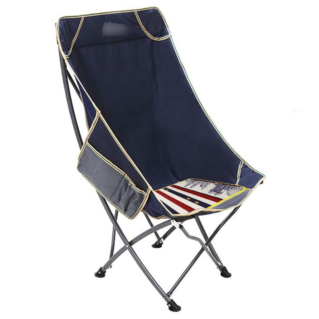 YaNanHome Klappstuhl Freizeit Recliner Outdoor Portable Klapp Rückenlehne Stuhl Mittagspause Stuhl Mond Stuhl (Farbe   Grün, Größe   93  55  53cm) Blau 935553cm