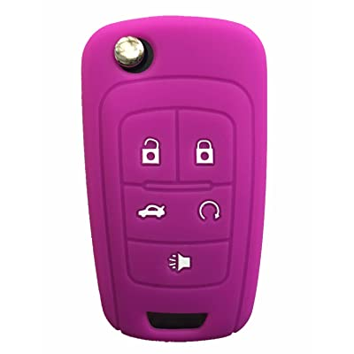 Rpkey Silicone Keyless Entry Remote Control Key Fob Cover Case protector For Buick Encore LaCrosse Regal Verano(Violet)OHT01060512 5461A-01060512: Automotive