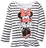 Disney Girls' Minnie Mouse Wearing Sunglasses Peplum Top