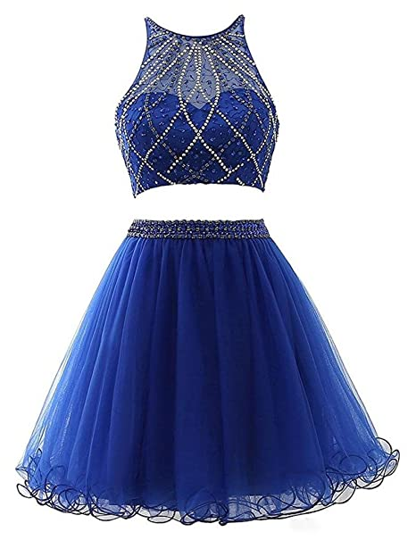 inmagicdress 2017 Royal Blue Two Pieces Short Homecoming ...