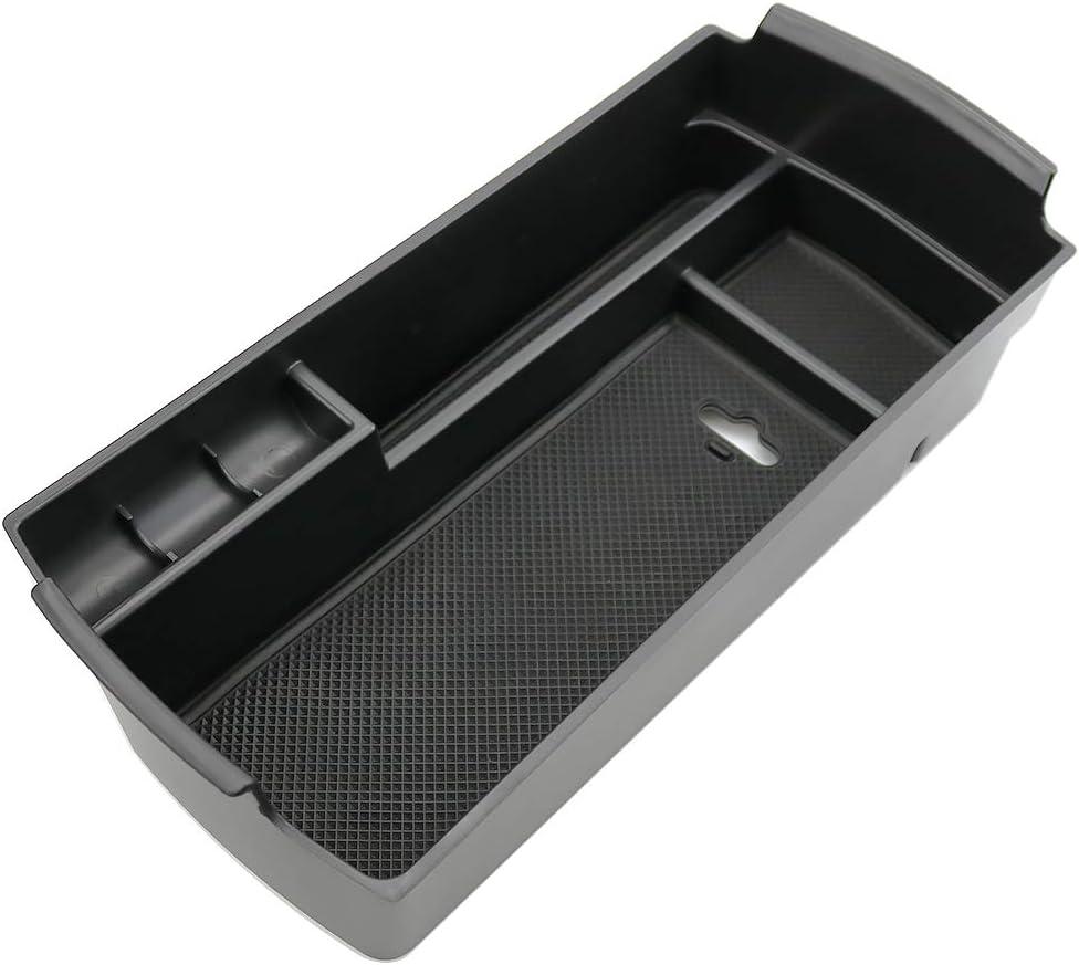 CDEFG para 3008 5008 GT Caja de almacenamiento, Consola Central Apoyabrazos Caja del coche Interior Center Armrest Storage Box, Con Tapete Antideslizante Accesorios Interiores del coche