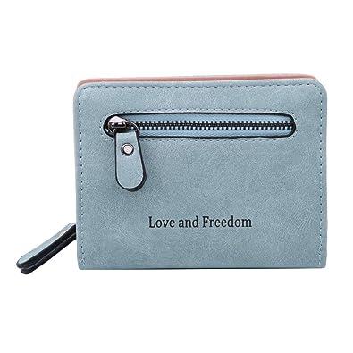 Amazon.com: Moonqing - Monedero de bolsillo con cremallera ...
