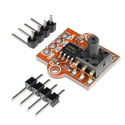 1 UNIDS 3.3-5 V Controlador Digital de Nivel de Agua Líquida Sensor de Presión Barométrica de Aire Mini Junta de Alto Rendimiento (rojo): Industria, empresas y ciencia