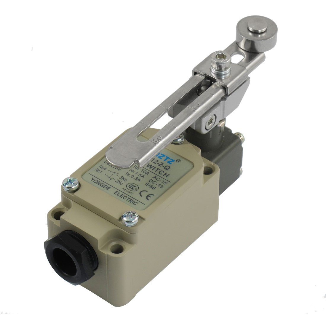 uxcell WLCA12-2-Q Adjustable Rotary Roller Lever Momentary Limit Switch 380V 10A