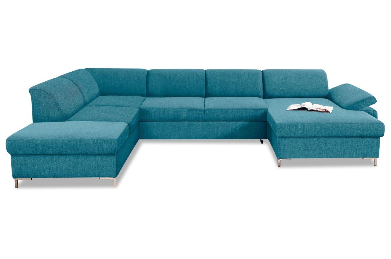 Sofa Wohnlandschaft Santana Mit Bett Webstoff Petrol Jetzt Bestellen