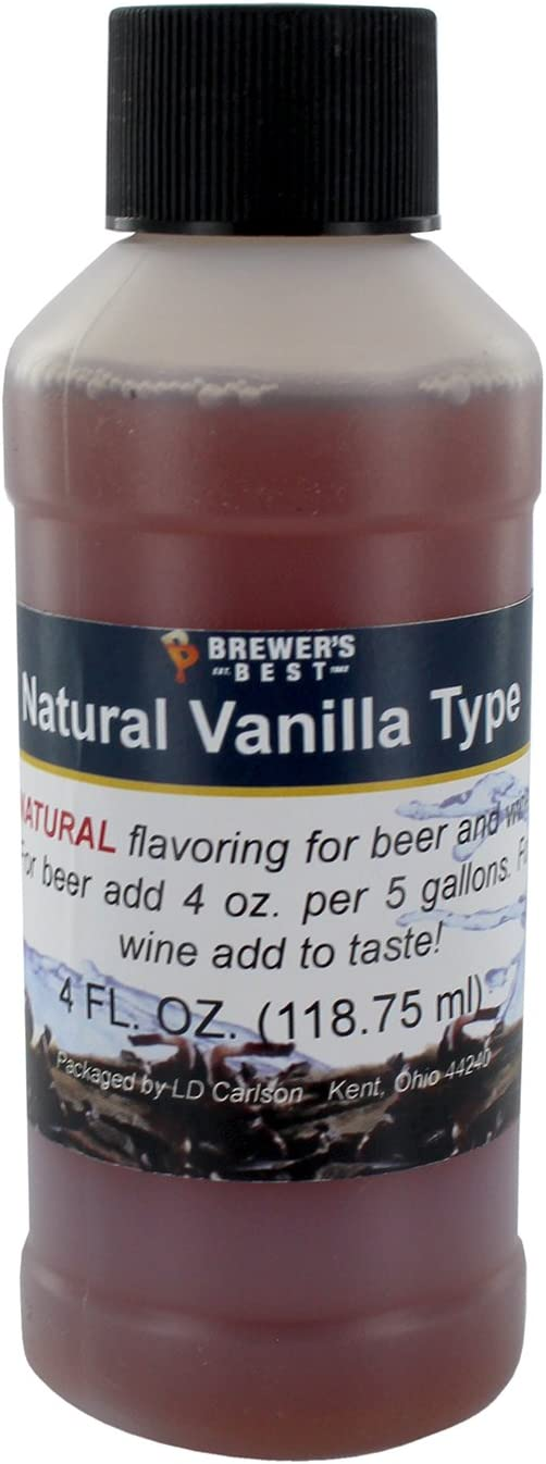 Brewer's Best Natural Beer and Wine Fruit Flavoring (Natural Vanilla Type)
