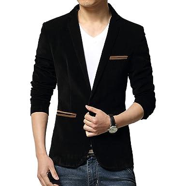 Vividda Mens Classic Stylish Velvet Slim Fit Wedding Dinner Tuxedo Casual Blazer Jacket X-Small