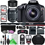 Canon EOS Rebel T6 Digital SLR Camera with 18-55mm EF-S f/3.5-5.6 IS II Lens + Essential Silver Bundle