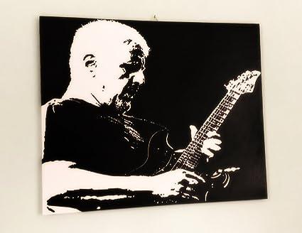 Fratta pino daniele quadro moderno dipinto a mano pop art