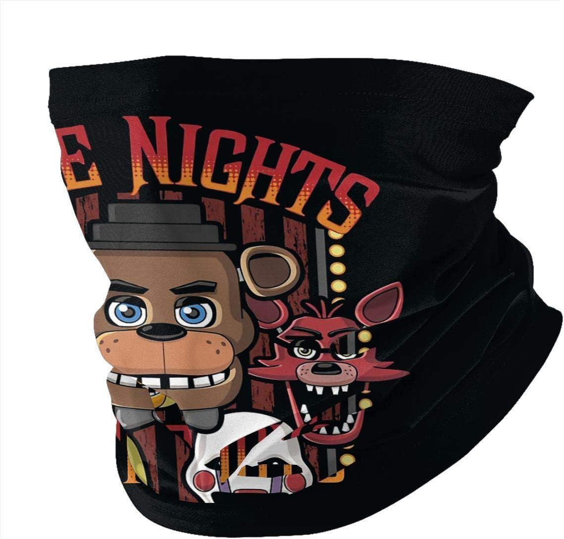 Not Applicable Headbands,FNAF Five Nights At Freddy'S Head Wrap, Bufandas Mágicas De Poliéster para Protección UV Al Aire Libre,25x50cm