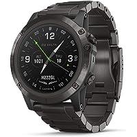Garmin D2 Delta GPS Reloj piloto, Incluye Funciones de Reloj Inteligente, frecuencia cardíaca y música, Delta PX, DLC Titanium Band