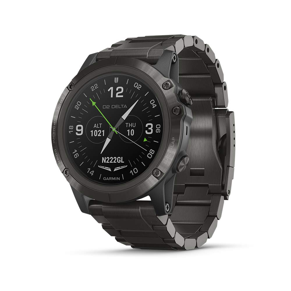 Garmin D2 Delta PX, GPS Pilot Watch with Pulse Ox Sensor, Includes Smartwatch Features, Heart Rate and Music, Titanium with Titanium Band by Garmin