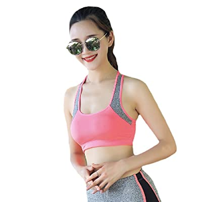 ANDYOU-Women Workout Running Breathable Yoga Absorb Sweat Shockproof Running Bra