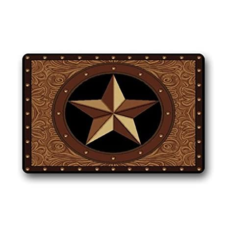 Superior Homie Design Western Tes Star Non Slip Rubber Entrance Door Mat Washable  Doormats Bath Kitchen Decor