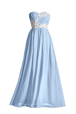 Bridesmaid Dress Long Special Occasion Gown Formal Dresses For Women Lace Prom Dresses, Color Cornflower