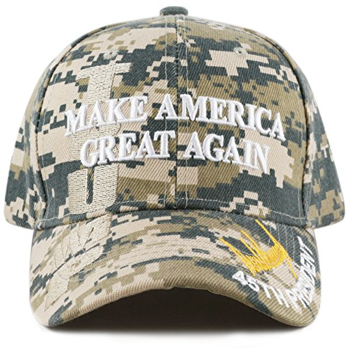 The Hat Depot Exclusive 45Th President Trump  Make America Great Again  3D Cap  Digi Camo