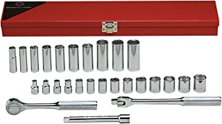 "product image for Wright Tool 377 3/8"" Drive 6 Point Standard and Deep Socket Set (27-Piece)"
