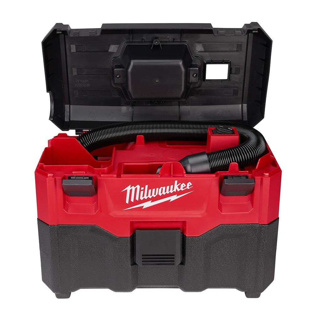 Milwaukee M18 2 Gal. 18-Volt Lithium-ion Cordless Wet Dry Vacuum Tool-Only , 2.8 Amp Motor, Lightweight, Tool-Box Style for Effortless Transport and Storage