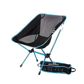 Silla Camping Aluminio Ultraligero portátil Plegable Mochilas sillas ...
