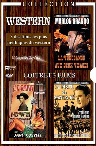 - Coffret western : la vengence au deux visages / la véritable histoire de billy the kid / la piste de santa fe