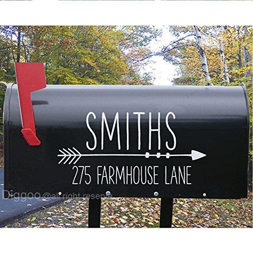 Family Mailbox (Mailbox Address Decal Custom Mailbox Sticker Family Name Vinyl Decal Housewarming Gifts (7